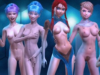 Play nude hentai games with 3d manga girls