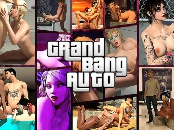 XXX porn version of GTA with sexy gangster bad girls