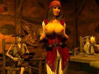 Pirate Jessica fucks hentai XXX monsters