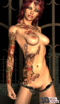 2 sexy tattoos emo girl