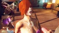 3DXChat pervert facial cumshot