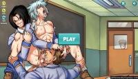 Cartoon gays in Yaoi Gay Harem porn game