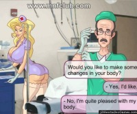 Anime nurse waits for a doctor to fuck MNF Club ass