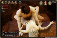 Shy girlfriend fucked in a rpg flash sex game
